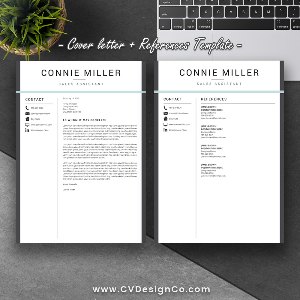 Best selling office word resume cv templates cover letter best selling office word resume cv templates cover letter references for digital instant download the connie resume spiritdancerdesigns Choice Image