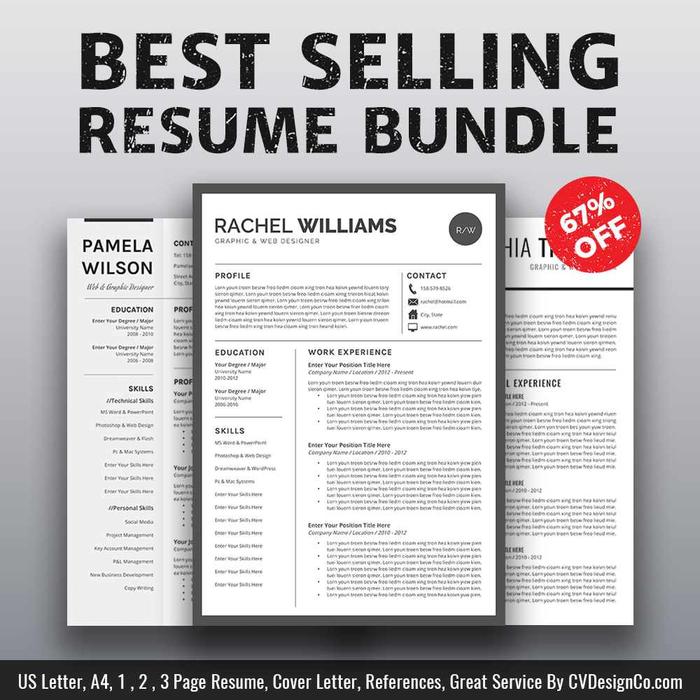 Best selling ms office word resume cv bundle the rachel resume best selling ms office word resume cv bundle the rachel resume templates cv templates cover letter references for unlimited digital download spiritdancerdesigns Gallery