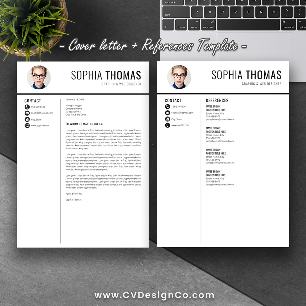 Best Selling Office Word Resume / CV Templates, Cover Letter, References  For Digital Instant Download: The Sophia Resume