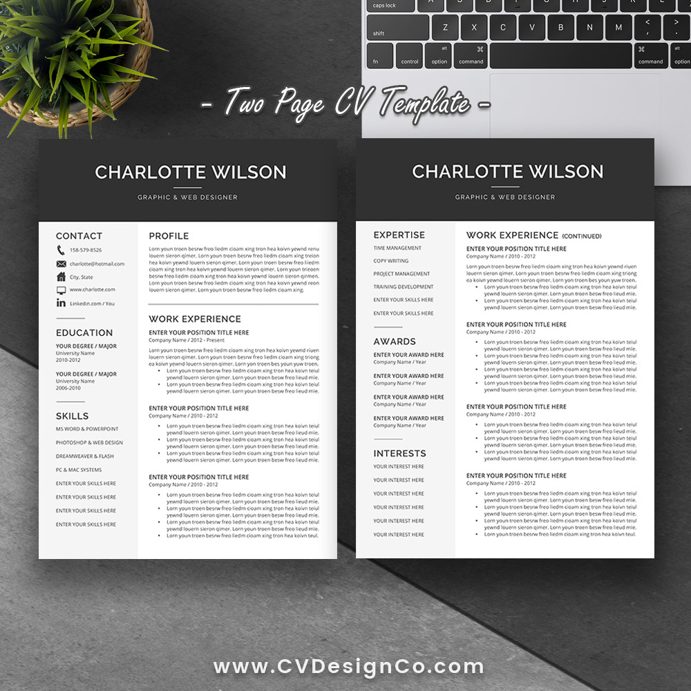 Resume Format Page 2: Best Selling Office Word Resume / CV Templates, Cover