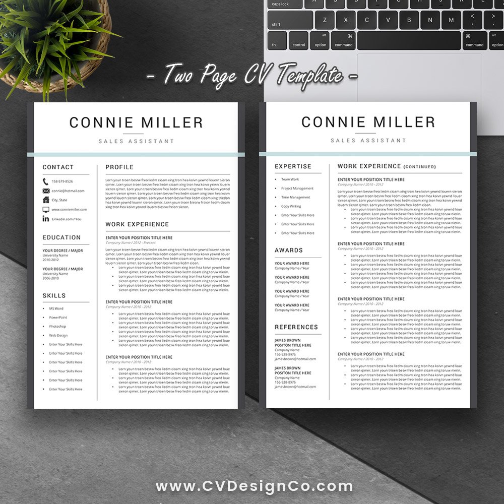 best selling ms office word resume    cv bundle the claire