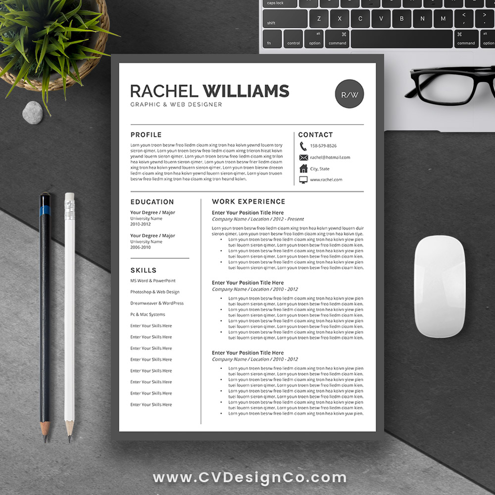 best selling ms office word resume cv bundle the rachel resume templates cv templates cover letter references for unlimited digital download - Best Modern Resume