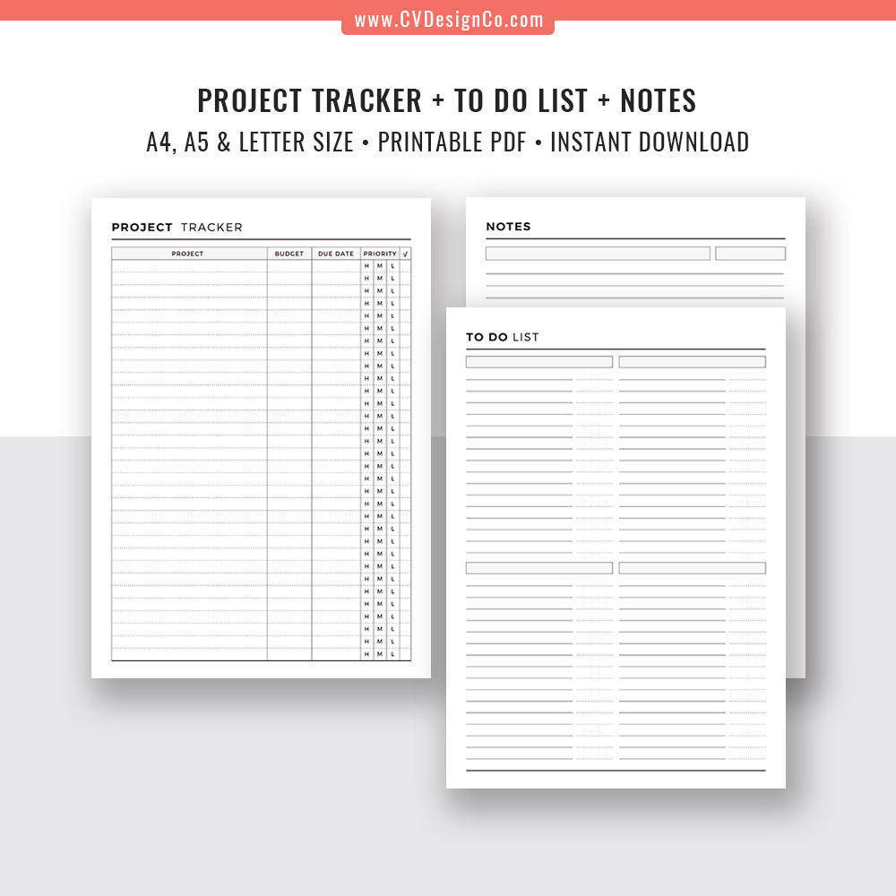 picture relating to To Do List Pdf named 2019 Task Command Offer, Undertaking Planner, Venture Tracker, Venture Review, In the direction of Do Checklist and Notes for Task Manage. A5, A4, Letter Sizing