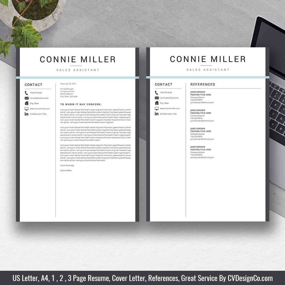 Professional Resume Template Bundle Cover Letter Cv: 2019 Best Selling MS Office Word Resume / CV Bundle The