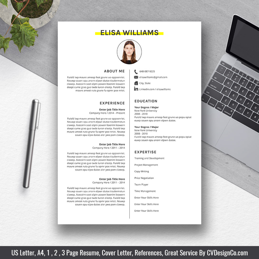 best selling office word resume    cv templates 2020  cover letter  references for digital