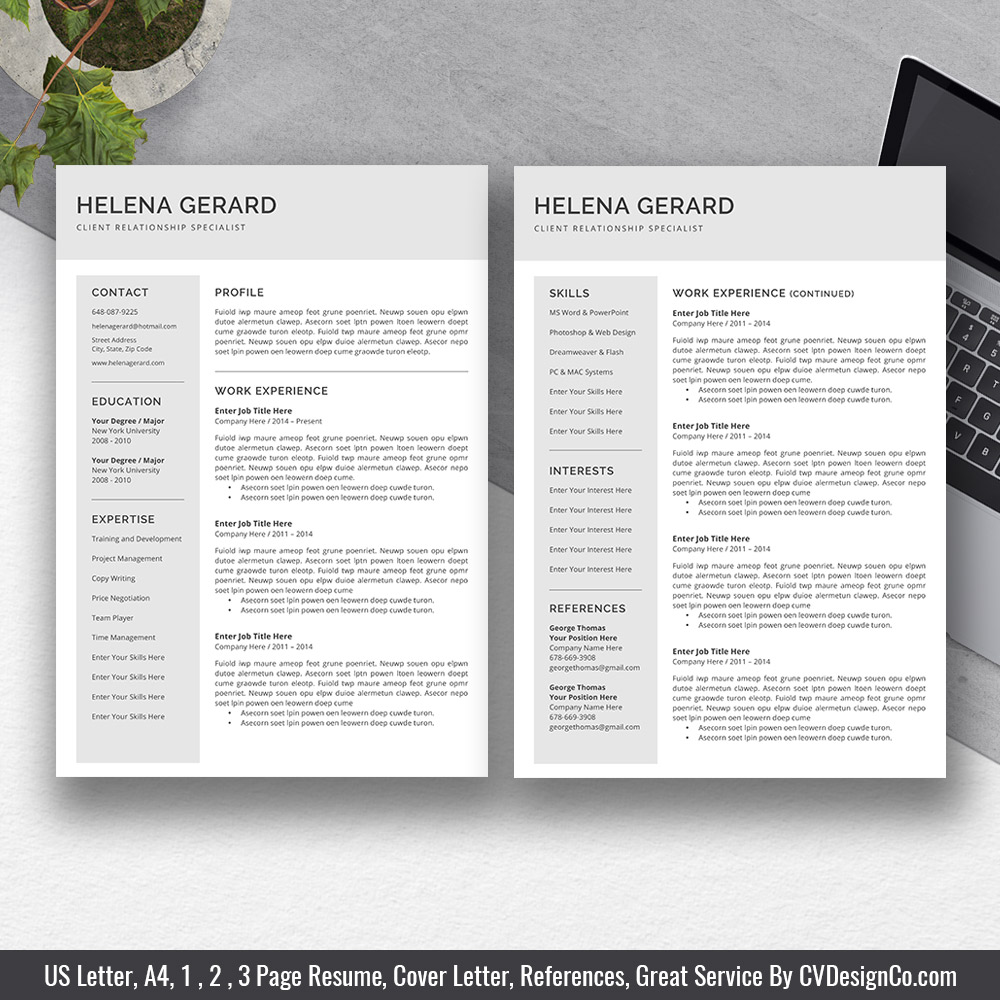 2019 best selling ms office word resume    cv bundle the valeria  resume templates  cv templates