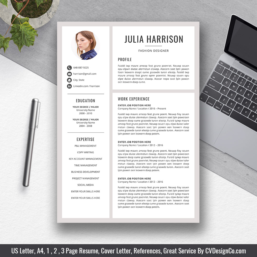 Best Selling Office Word Resume For Job Application Cover Letter References For Digital Instant Download Modern Resume Creative And Professional Resume The Julia Resume Cvdesignco Com