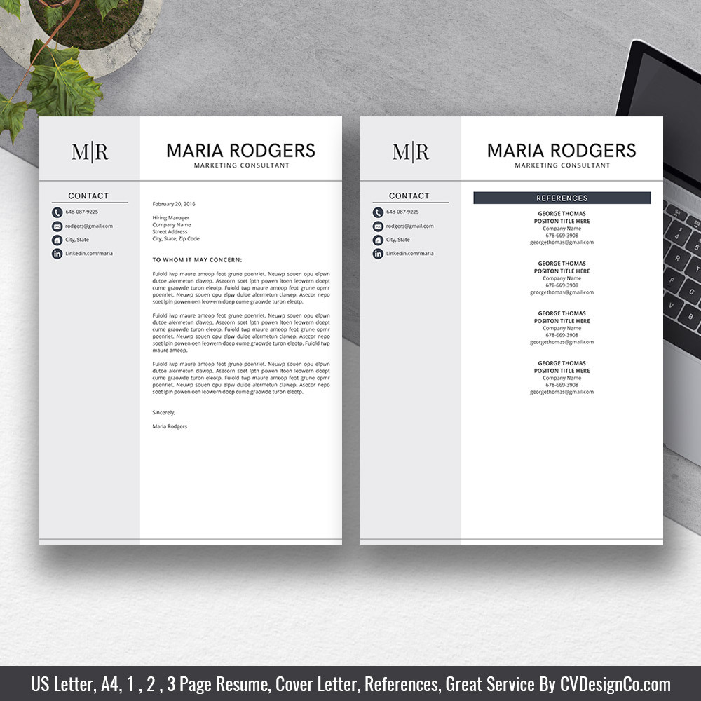 2019 best selling ms office word resume    cv bundle the anna  resume templates  cv templates