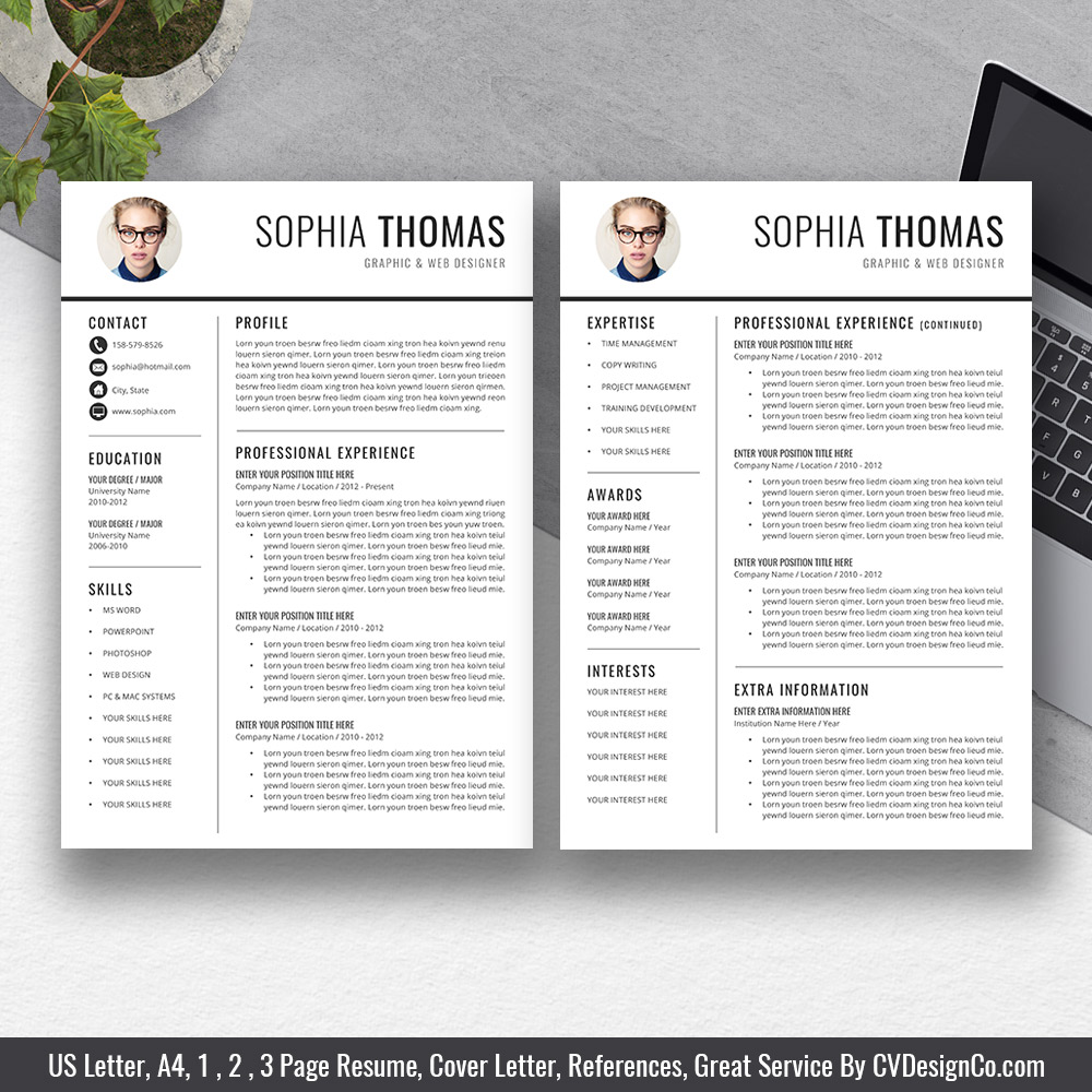 best selling office word resume    cv templates  cover letter  references for digital instant