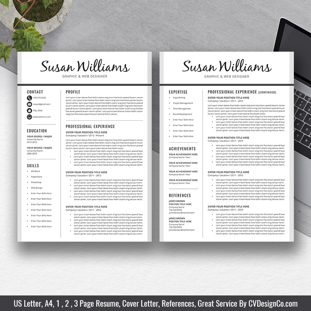 www.CVDesignCo.com-The-SUSAN-Resume-Two-Page-Resume Template Cover Letter For Customer Service on thank you letter for customer service, basic resume customer service, cover letter examples for server position, short cover letter customer service, cover letter example for the health services, application letter for customer service, good cover letter for customer service, email cover letters for customer service, professional cv template for customer service, curriculum vitae for customer service, resume for customer service, example of cover letter for service, great customer service, cover letter job fair, motivation letter for customer service,