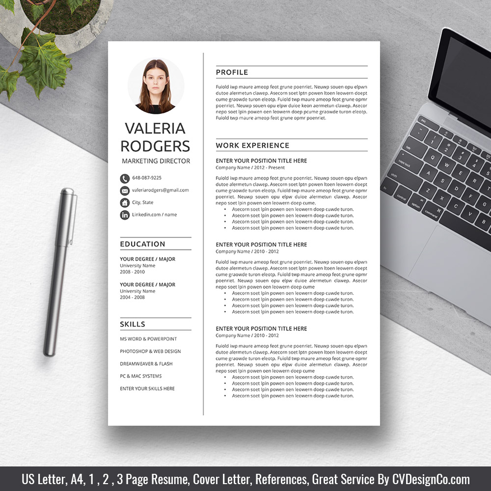 Best Selling Office Word Resume / CV Templates, Cover